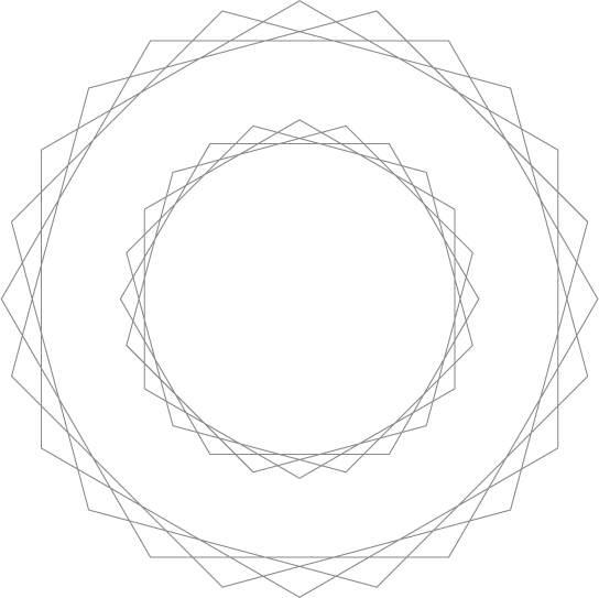 Wireframe circles